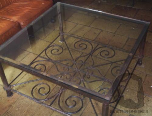 Table basse fer forgé
